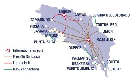 Costa rica domestic flights costa rica guides for Vuelos baratos a costa rica