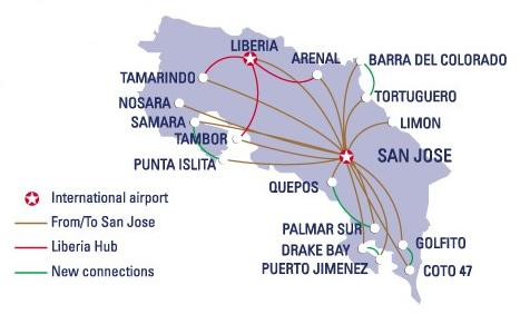 Domestic Flights Map