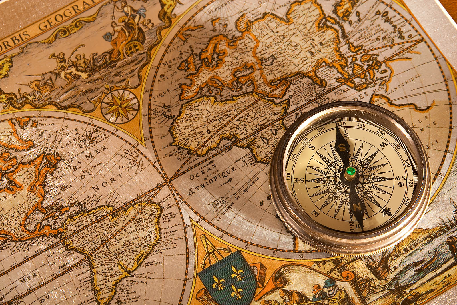 Old World Maps Wallpaper