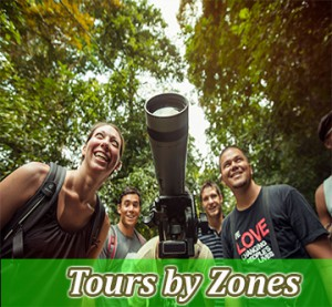 tours by zones in costa rica